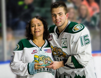 Silvia Bauman and Silvertips Captain Kohl Bauml